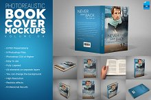 Photorealistic Book Cover Mockups v4