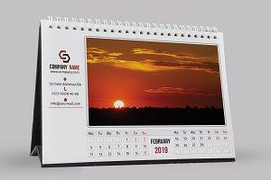 Desk Calendar Template 2019 - V12