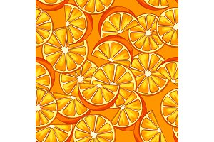 Seamless pattern with oranges.
