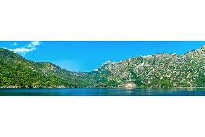 Panorama of Kotor Bay in Montenegro