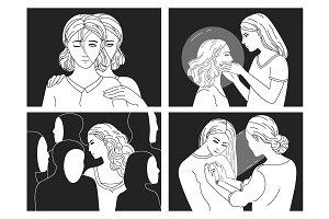 Psychological concept illustrations