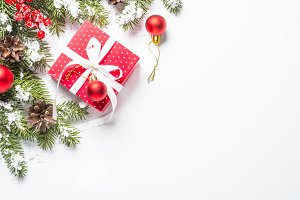 Christmas background with present