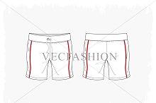 Woman Fitness Sport Shorts Vector