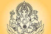 Lord ganesha indian god