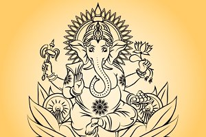 Lord ganesha indian god