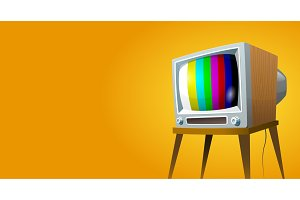 Television set vector illustration