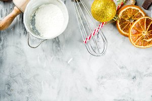 Christmas winter baking concept