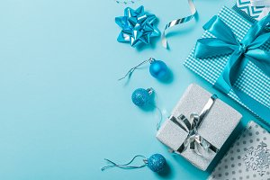 Christmas background - presents and