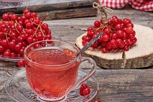 hot viburnum tea