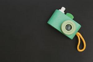 Retro green toy camera