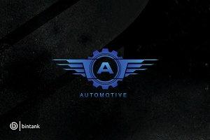 Automotive Gear Wing - A Letter Logo