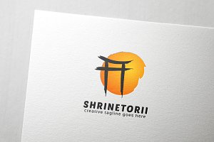 Shrine Torii Logo