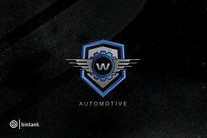 Automotive Shield Wing - W Letter Lo