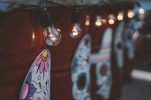 vintage light bulbs. mexican style