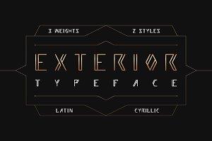 EXTERIOR - 6 fonts