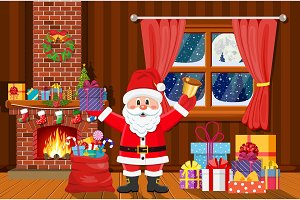 Santa Claus in Christmas room