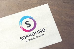 Letter S - Sorround Logo