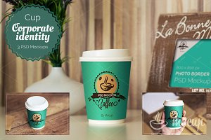 3 PSD Coffee Cup Mockups