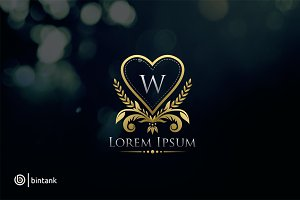 Luxury Love W Letter Logo