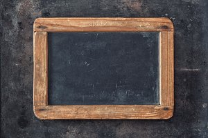 Antique chalkboard on metal texture