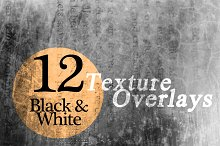 Black & White Texture Overlays
