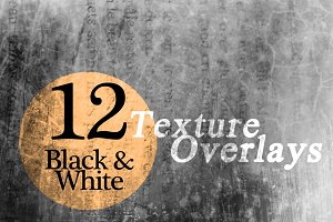 Black & White Texture Overlays