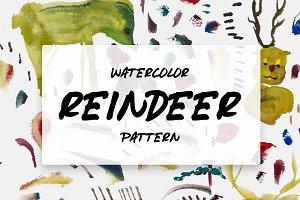 Watercolor Reindeer pattern