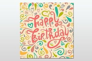 Greeting cards. Happy birthday.