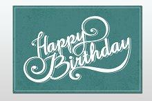 Greeting card. Happy birthday