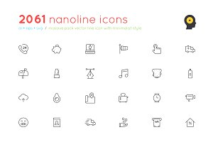 2061 nanoline icons - 70% off