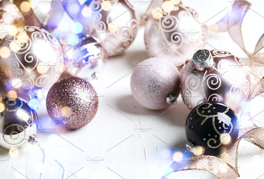 Pink Christmas Baubles Holidays