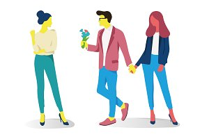 Couple relationships, Poses, Vector