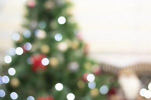 Christmas Blurred Background. Blured