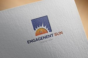 Engagement-sun Logo Template