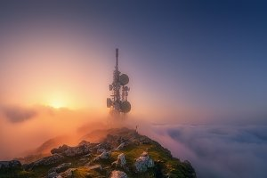 telecommunications tower on Oiz