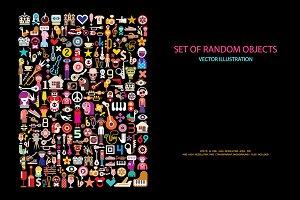 Set of Random Objects vector design