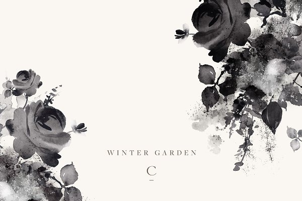 Illustrations and Illustration Products: Create The Cut - Winter Garden Clip Art