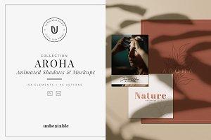 Aroha - Animated Shadows & Mockups