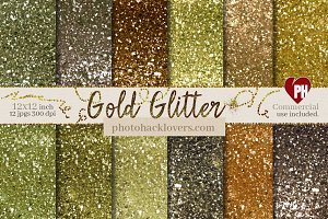 14 Chunky Gold Glitter Textures