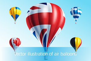 Vector illustration of air balloons