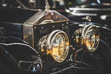 Headlamps of an old Rolls Royce car by  in Transportation