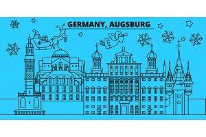 Germany, Augsburg winter holidays