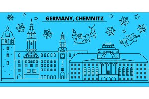 Germany, Chemnitz winter holidays