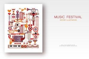 Music Festival vector illustration