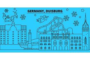 Germany, Duisburg winter holidays