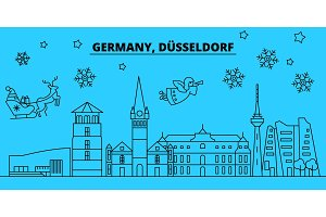 Germany, Dusseldorf winter holidays