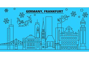 Germany, Frankfurt winter holidays