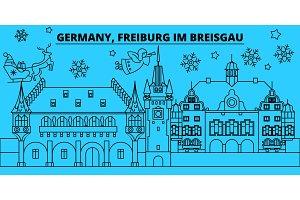 Germany, Freiburg im Breisgau winter