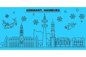 Germany, Hamburg winter holidays