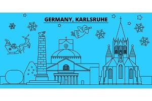Germany, Karlsruhe winter holidays